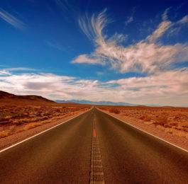 autostrada w słońcu fotografia