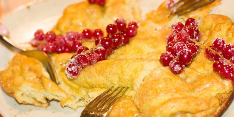 fotografia omlet na słodko